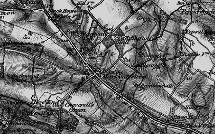 Old map of Markyate in 1896