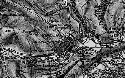Old map of Marlborough in 1898
