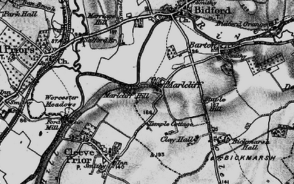Old map of Marlcliff in 1898