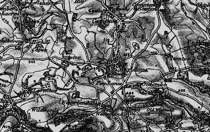 Old map of Marldon in 1898