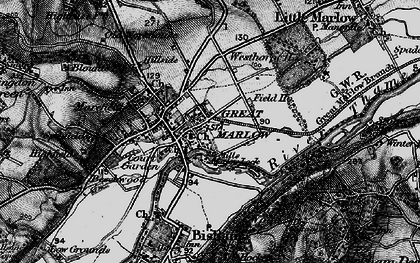 Old map of Marlow in 1895