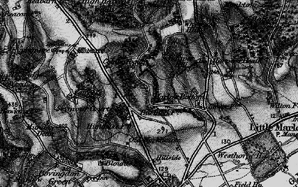 Old map of Marlow Bottom in 1895