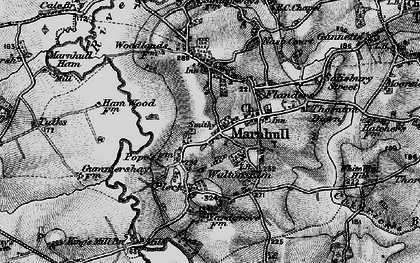 Old map of Marnhull in 1898