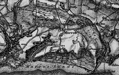 Old map of Marros in 1898