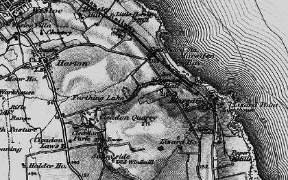 Old map of Marsden in 1898