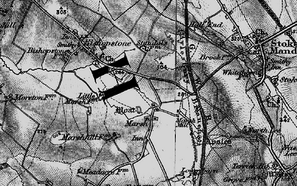 Old map of Marsh in 1895
