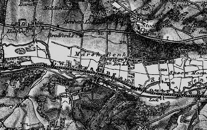 Old map of Benham Park in 1895