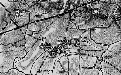 Old map of Westbury Court in 1896