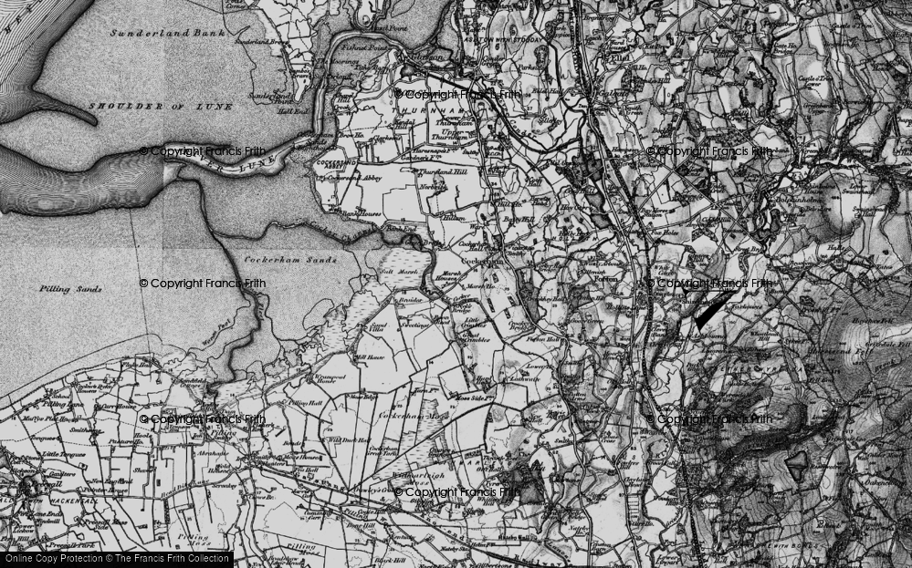 Old Map of Historic Map covering Lathwaite in 1896