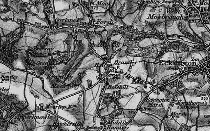 Old map of Marsh Lane in 1896