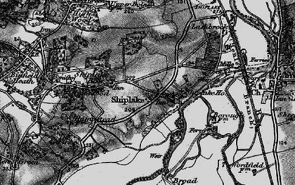 Old map of Marsh Lock in 1895