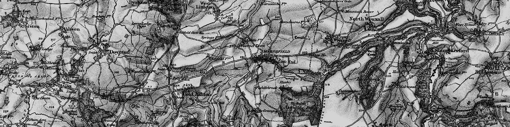 Old map of Marshfield in 1898