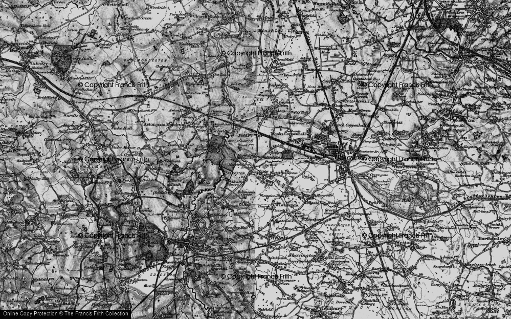 Old Map of Historic Map covering Leighton Grange in 1897