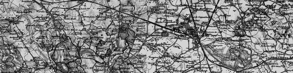 Old map of Alvaston Hall Hotel in 1897