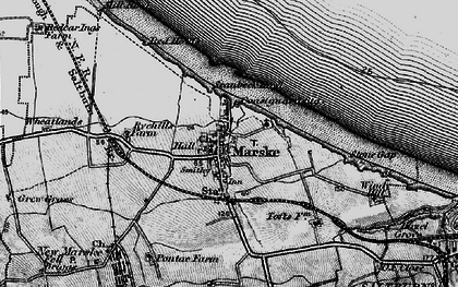 Old map of Marske-By-The-Sea in 1898