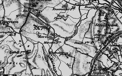Old map of Yarlet in 1897