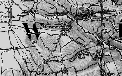 Old map of Worton Common in 1898