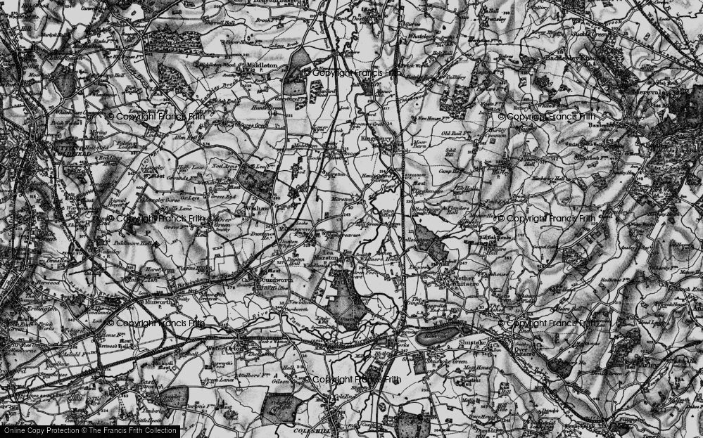Old Map of Marston, 1899 in 1899