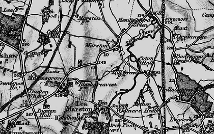 Old map of Marston in 1899