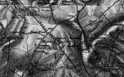 Old map of Wilton Down in 1898
