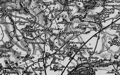Old map of Baguley Fold in 1896