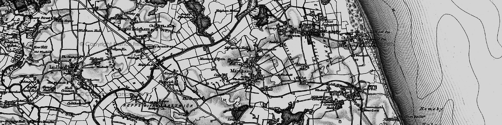 Old map of Martham in 1898