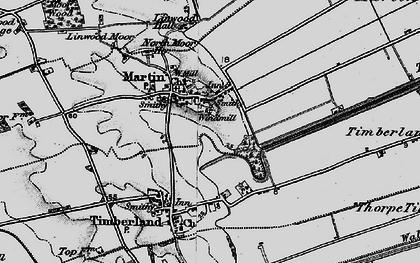 Old map of Linwood Moor in 1899