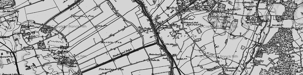 Old map of Timberland Dales in 1899