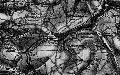 Old map of Woolhanger Common in 1898