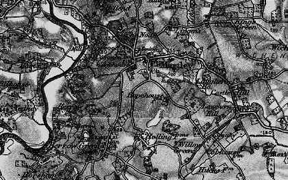Old map of Martley in 1898