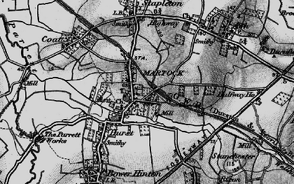 Old map of Martock in 1898