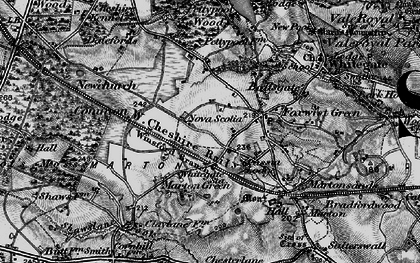Old map of Whitegate Way in 1896