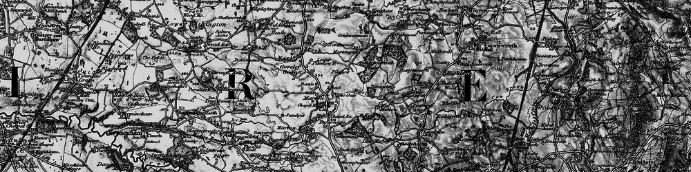 Old map of Tidnock Wood in 1896