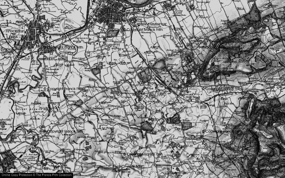 Old Map of Marton, 1898 in 1898
