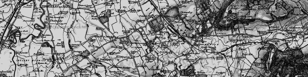 Old map of Marton in 1898