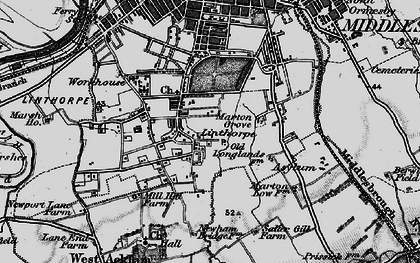 Old map of Marton Grove in 1898