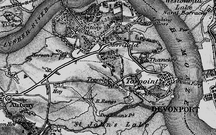 Old map of Maryfield in 1896
