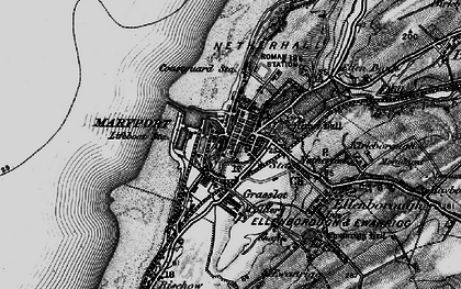 Old map of Maryport in 1897