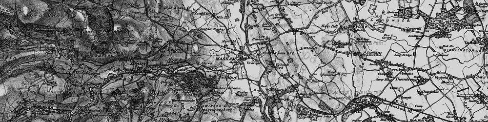 Old map of Aldburgh Hall in 1897