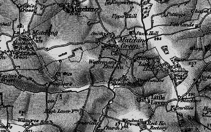 Old map of Matching Green in 1896