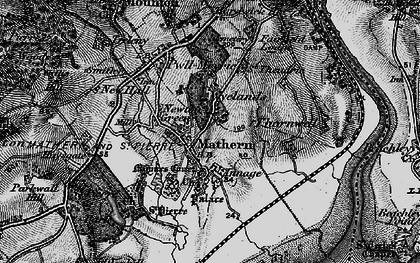 Old map of Mathern in 1897
