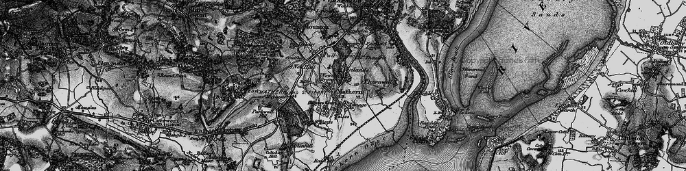Old map of Wyelands in 1897