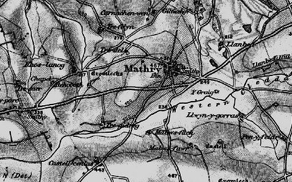 Old map of Y Craig in 1898
