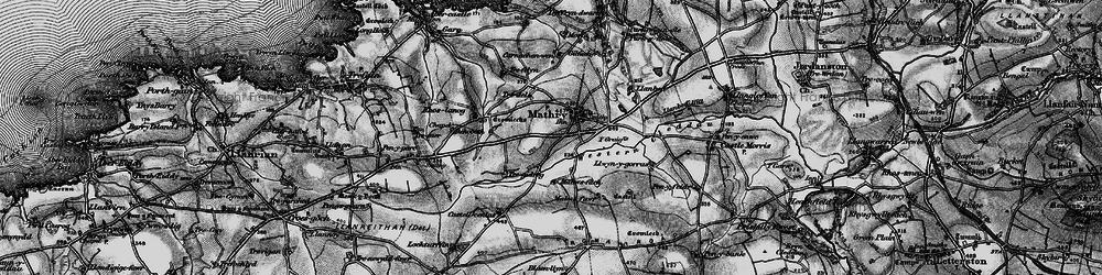 Old map of Western Cleddau in 1898