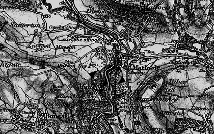 Old map of Matlock in 1896