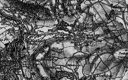 Old map of Matlock Cliff in 1896
