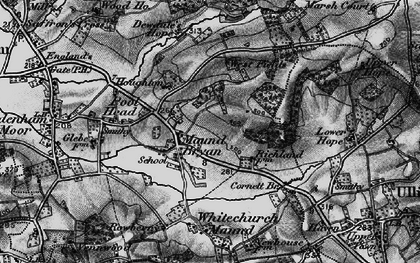 Old map of Westfields in 1898