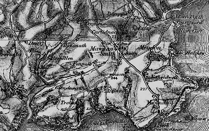 Old map of Mawnan Smith in 1895