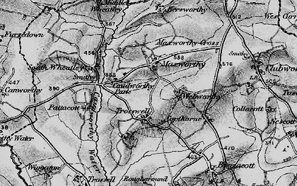 Old map of Maxworthy in 1895