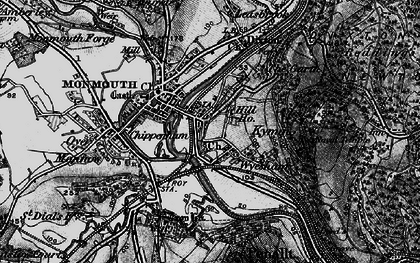 Old map of Dixton in 1896